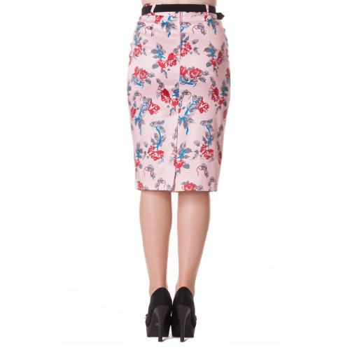 Hell Bunny Rock CARMINA PENCIL SKIRT pink Rosa