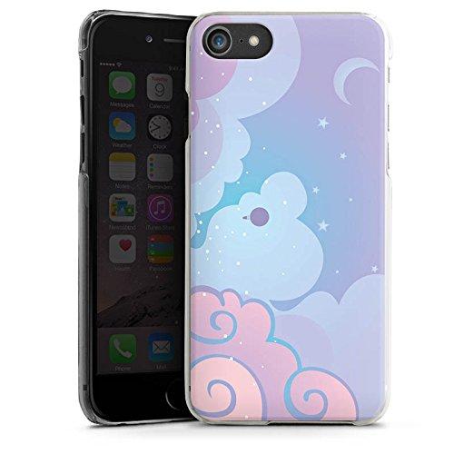 Apple iPhone X Silikon Hülle Case Schutzhülle Wolken Himmel Sterne Hard Case transparent