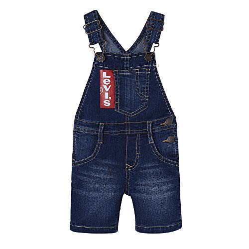 Levi's Kids Baby - Jungen Nn21004 46 Dungaree Overall, Blau (Indigo 46), 9-12 Monate (Herstellergröße: 12M) - 9 Monate Overall