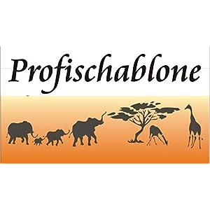 Wandschablone, Schablone für Kinderzimmer, Afrikamotiv, Kindermotive, Tiere Afrikas, Afrikastyle, Wandmalerei im Afrikastil, Kinderzimmerdekoration