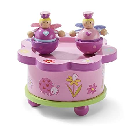 Fairy Tale Dancing Music Box – Pink Wooden Music Box with Magnetic Dolls – Kids Music Box Toy - Lucy Locket