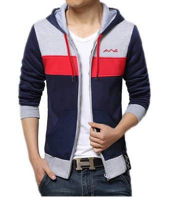 AWG - All Weather Gear Men's Cotton Sweatshirt with Zipping (Multicolour, Small)