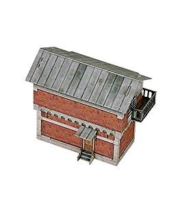 Keranova keranova2991: 87Escala 12x 7x 10cm Clever Papel Tren colección Edificios Control Post 3D Puzzle