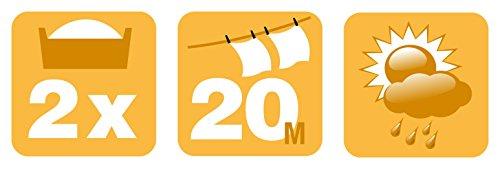 Artweger Wäschetrockner, Trockengestell: Stahlrohre-kunststoffbeschichtet, Alurohre-kunststoffummantelt, Leinen: faserverstärkte Seile, Flügel: Kunststoff, Lila 58.5 x 8.2 x 117 cm