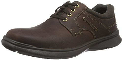 Clarks Cotrell Plain 26119806 - Scarpe da Ginnastica Uomo Marrone (Brown Oily Leather)