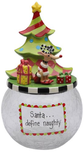 Appletree Design 62671 Cookie Jar mit Seasonal Design, Keramik/Glas, 6 von 10-5/8 von 6