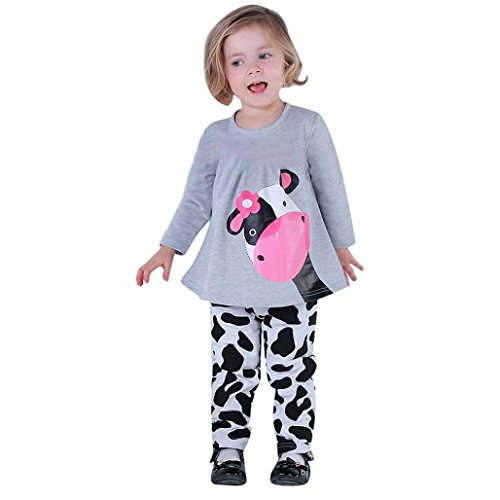 Culater® Bambino neonate autunno rifornisce dei vestiti T-shirt Top abito pantaloni (100)