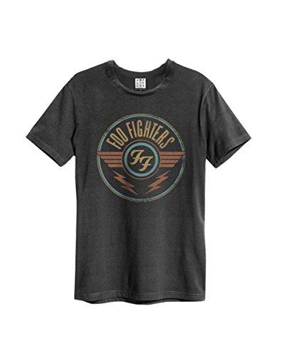 Amplified - Foo Fighters Rock Band Herren T-Shirt - Classic Logo (Grau) (S-L) (XL) -