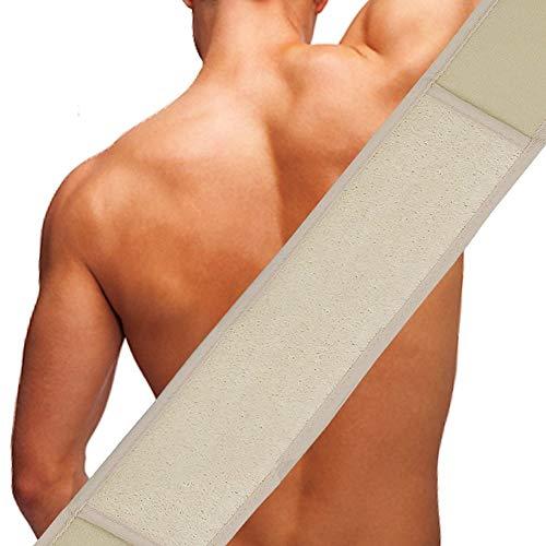 Leecee Luffaschwamm, Lang Rückenwaschgurt Luffa Rückenscrubber mit Luffa Handschuh - 4 in 1 Körper Peeling Set -