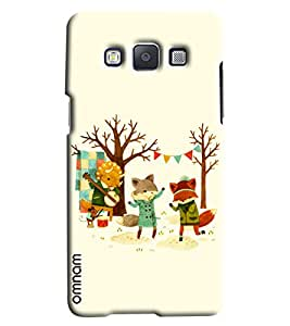 Omnam Wolf Enjoying Party Printed Designer Back Cover Case For Samsung Galaxy E7