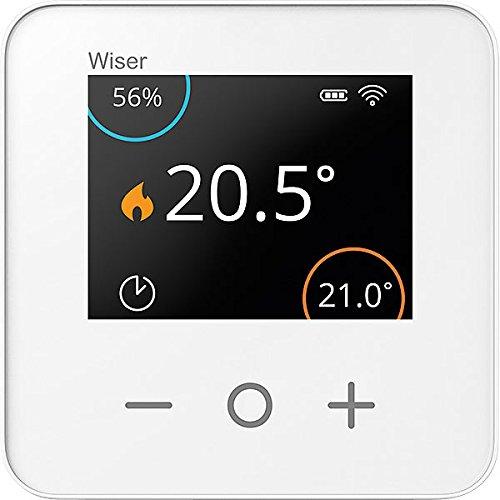 Eberle Kabelloser Raum-Thermostat für Wiser, LCD-Display, Feuchtigkeitssensor (Wifi-thermostat-batterie)