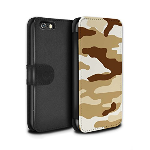 Stuff4 Coque/Etui/Housse Cuir PU Case/Cover pour Apple iPhone 4/4S / Vert 1 Design / Armée/Camouflage Collection Marron 2