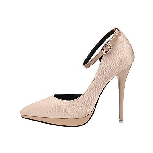 Femmes Chaussures Printemps Été Peu Profonde Boucle Boucle Talons Sandales Stiletto Hee Plate-Forme De Fête De Mariage Unique Chaussures Rouge Noir Vert Abricot GAOLIXIA