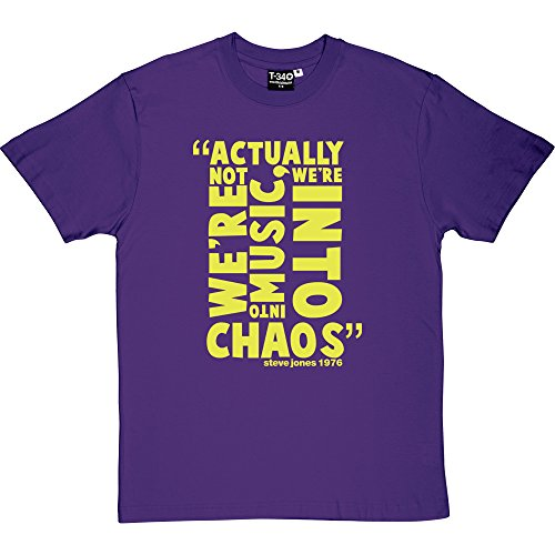 Steve Jones Chaos Quote Men's T-Shirt