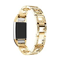 Toamen For Fitbit charge 2 Band, Stainless Steel Watch Band Wrist strap For Fitbit charge 2 Smart Watch