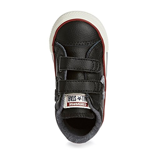 Converse Trainers - Converse Star Player Ev 2v Leather Ox Infant Shoes - Black/Dolphin/Egret Nero