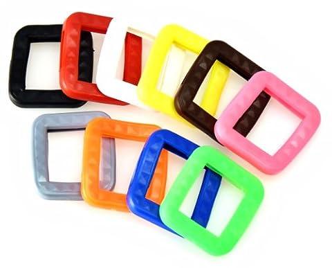 van den Heuvel Schlüsselkennring for BKS-Keys (Pack of 10), Multi-Coloured