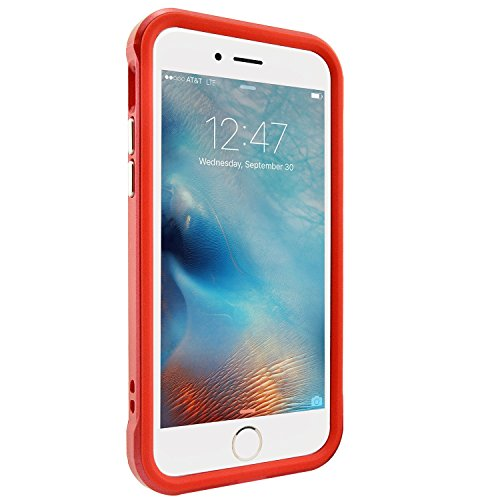 iPhone 6 6S Hülle, Fraelc® iPhone 6 /6S Hybrid Handyhülle Dual-Layer Schutzrahmen Rot TPU Schutzhülle + PC Farbenrahmen Schale für iPhone 6/6S Rot