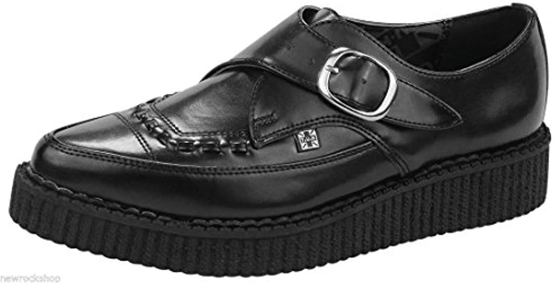 T.U.K. A8520 Tuk Zapatos Negro Piel Punta Hebilla Brogue burdel Creepers Unisex