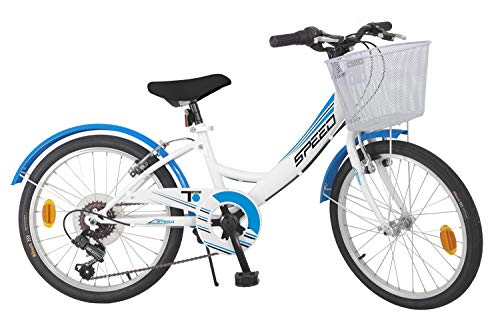 Toimsa Bicicletta 20' Modello MTB City 6 velocità 7-9 Anni 515, Multicolo