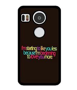 Fuson 2D Printed Quotes Designer back case cover for LG Google Nexus 5X - D4529