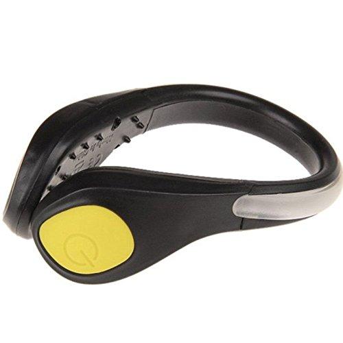 Kit 2x luce led luci scarpa scarpe sport jogging corsa notte visiblità sicurezza BIANCA giallo