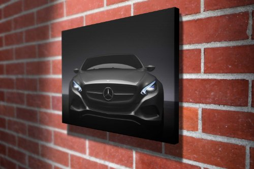 Mercedes Benz F800 Cars Gallery Framed Canvas Art Picture Print