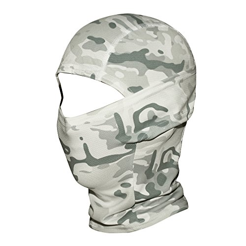 WTACTFUL Camouflage Cover Balaclava Hood Ninja Outdoor Cycling Motorcycle Hiking Climbing Hunting Helmet liner Gear Full Face Mask for Summer Sports SP-07