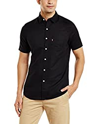 Levis Mens Casual Shirt (6920028064898_32908-0018_X-Large_Black)