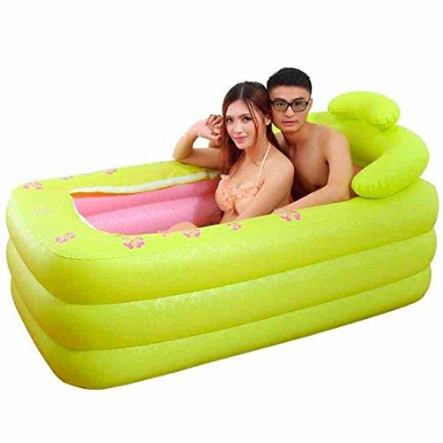 CHENHUAVerdicken Kunststoff Haushalt Erwachsene Bad Falten Doppelt Aufblasbar Badewanne 160 * 85 * 75 cm