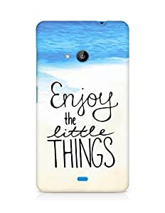 AMEZ enjoy the little things Back Cover For Microsoft Lumia 535