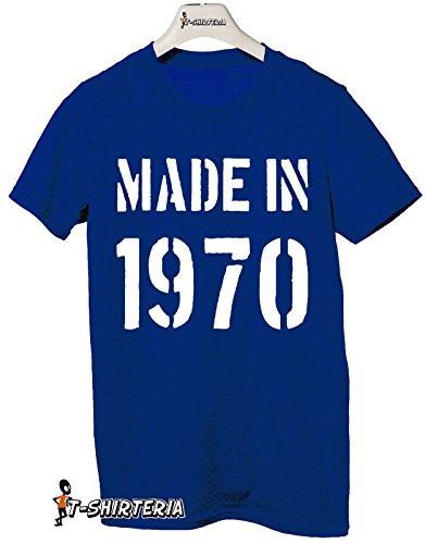 Tshirt Made in 1970 - idea regalo per compleanno - Tutte le taglie by tshirteria Blu