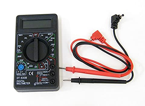 Taha® DT830B LCD Digital Voltmeter Ammeter Ohm Multimeter with Test