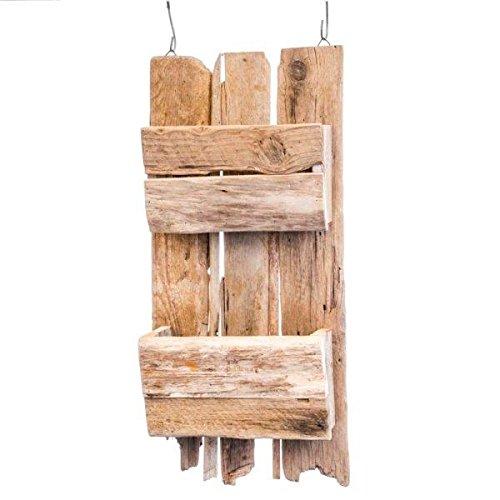 kuheiga Wandregal Holz Höhe: 63cm Gartenregal Shabby Hängeregal Kräuterregal Gewürzregal