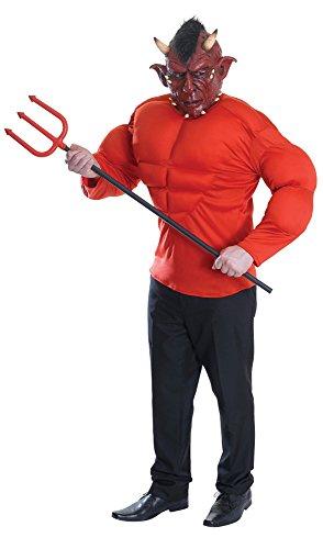 742–Blumenkasten Devil Gepolsterte Oberseite Kostüm mit Maske (Muskel Kostüme)