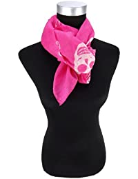 50 x 50 cm Nickituch Chiffon magenta pink weiss mit Blumenmuster Tuch Gr