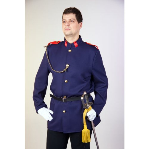 Offizier Kostüm - Karneval Herren Kostüm Offizier Uniform als Hauptmann Größe 50/52