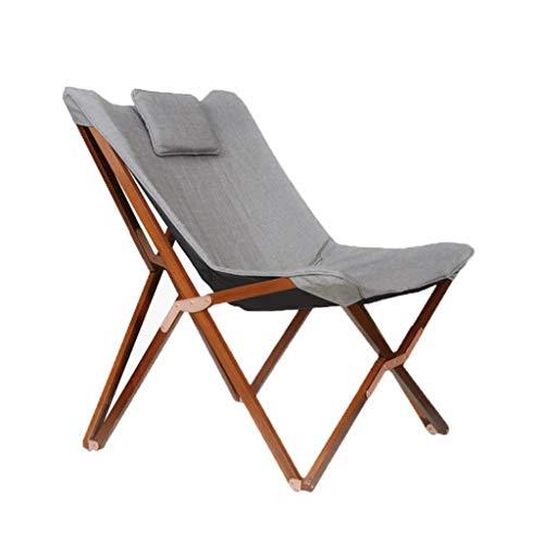 OHHG Schaukelstuhl Klappstuhl Lazy Deck Freizeit Lounge Chair Holz Leicht zu waschen Strand Camping Balkon Schlafzimmer Garten Tragfähigkeit 100kg (Farbe: # 1) -