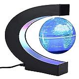 Garosa schwebende Globe magnetische Tischleuchte LED Lichter C-Form Lern-Weltkarte für Kinder Erwachsene Zuhause Büro Schreibtisch Dekoration Blue, Uk Plug