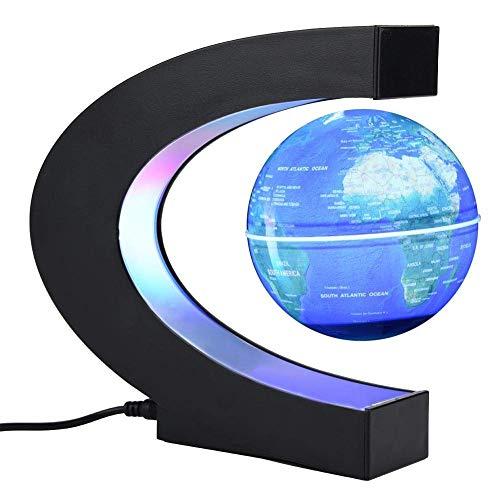 obe magnetische Tischleuchte LED Lichter C-Form Lern-Weltkarte für Kinder Erwachsene Zuhause Büro Schreibtisch Dekoration Blue, Uk Plug ()