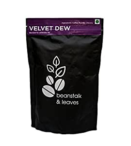 Beanstalk & Leaves Velvet Dew Blended Coffee Powder, 250 g, Filter Coffee, Black Coffee, Latte, Espresso, 80 20, cappuccino, 3 in 1, Blend