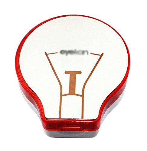 Fashion Kreative Birne geformt Kontaktlinsenbehälter-Rot