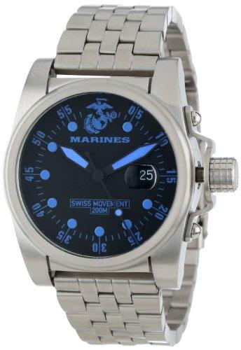 usmc-wrist-armor-homme-wa111-acier-inoxydable-swiss-quartz-us-marine-corps-montre