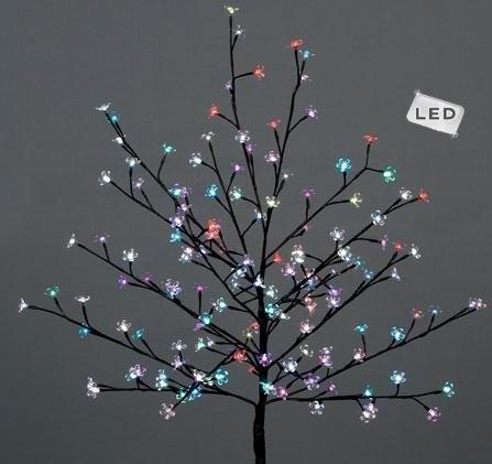 150cm Christmas Outdoor LED Light Cherry Tree 150 Multi colour LED Bulbs (Cherry Christmas Lights)
