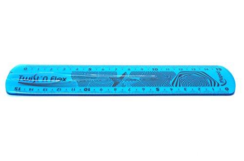 Maped piatto righello Twist'n Flex, 150 mm/15 cm, infrangibile, trasparente