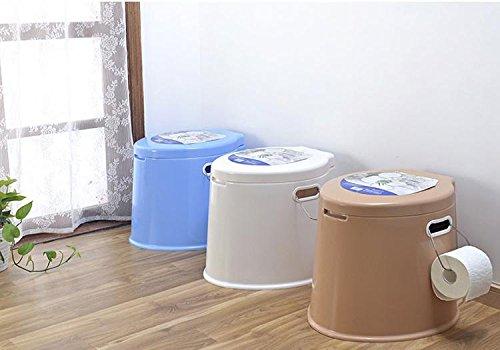 sizll Sitz WC aus Kunststoff für die Toilette Möbel Tragbare Toilette ältere Senioren in den Menschen von Schwangere Frauen mit Behinderung weiß