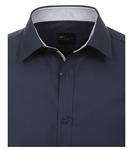 Michaelax-Fashion-Trade -  Camicia classiche  - Basic - Classico  - Maniche lunghe  - Uomo Blau (100)