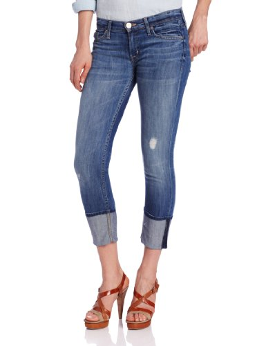 Hudson Jeans Women's Muse Crop Skinny With Five Inch-Cuff 5-Pocket Jean, Indie, 24 -