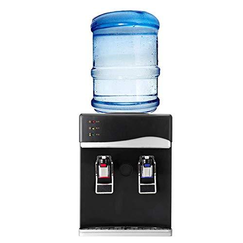 LXDDB 220 V Elektrische Trinkkühler Tischplatte Haushalt Mini Kaltes Heißes Getränk Maschine Desktop Automatische Wasserspender 550 Watt, Silber, EIS/Warm/heiß