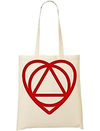 Heart Triangle Faith Bolso De Mano Bolsa De La Compra